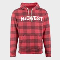 Midwest Pine Red Buffalo Check Hoodie