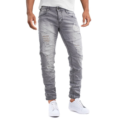 Jeans 5 Tasche Ripped Uomo - 8230