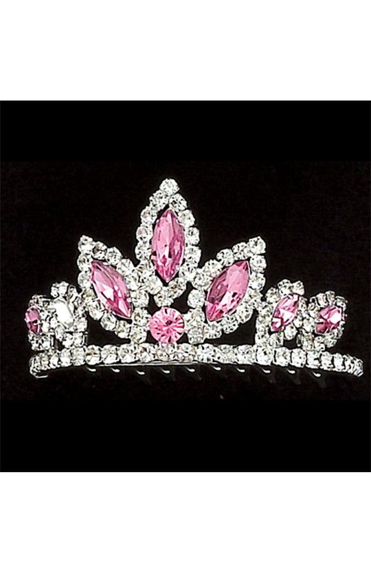 Dasha Designs Rhinestone with Color Tiara - 2803