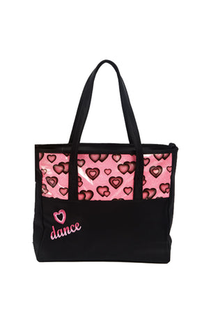 Dasha Designs Glittery Hearts Dance Tote - 4942