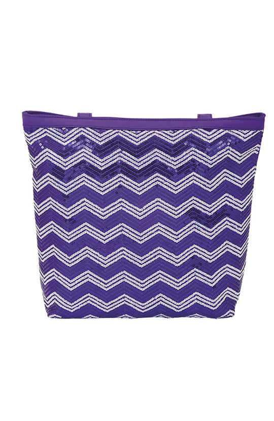 Dasha Designs Chevron Sequin Tote - 4971