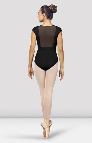 Bloch Kalila V Neckline Mesh Back Cap Sleeve Leotard - L4942 Adult