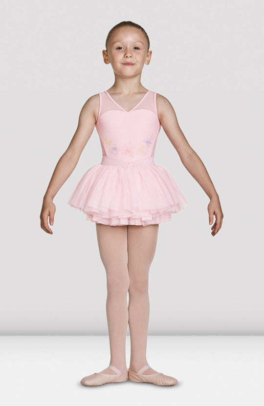 Mirella Mesh Bodice Tank Tutu Leotard - M1080C Child