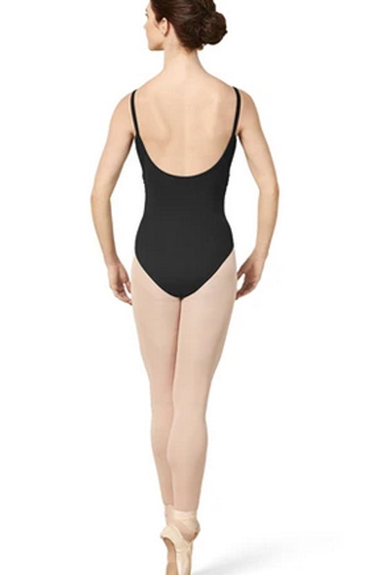 Mirella Gathered Mesh Wrap Front Bodice Leotard - M2172LM Adult