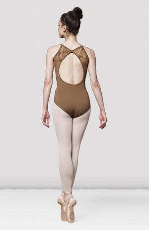 Mirella Messina Flock Mesh Open Back Leotard - M4031LM Adult