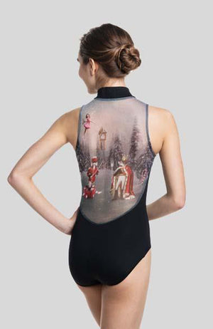AinslieWear Zip Front Leotard with Nutcracker Print - 1062NU Child