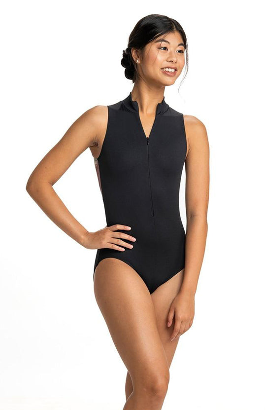 AinslieWear Zip Front Leotard with Valentina Print - AW1062VL Adult