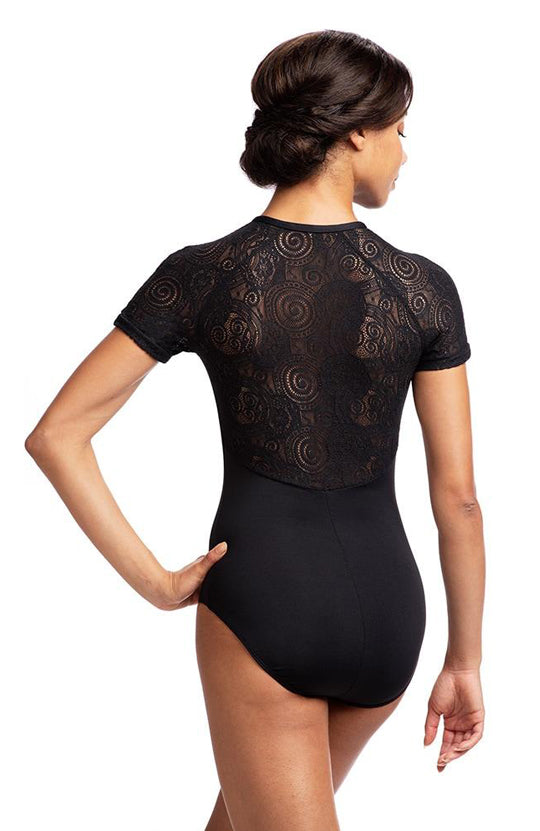 AinslieWear Emily Leotard with Lola Lace - AW1068LL Adult