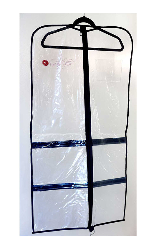 Kissed By Glitter Clear Garment Bag - DS0102