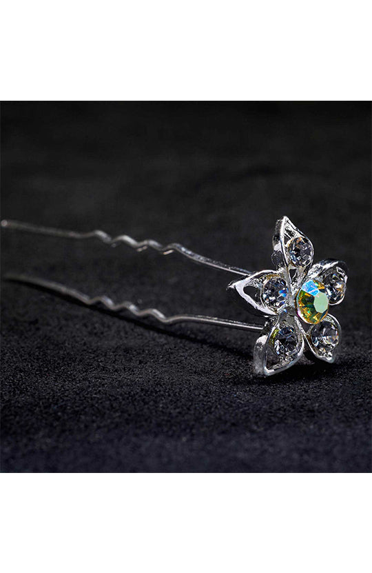 Kissed By Glitter Large Crystal Flower Hair Pin - SS063
