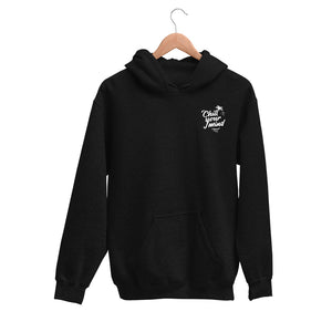 ChillYourMind - Black Embroidered Logo Hoodie