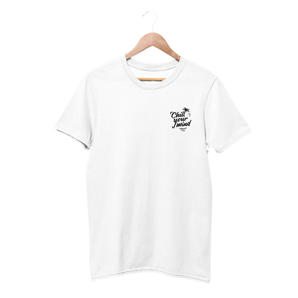 Load image into Gallery viewer, ChillYourMind White Embroidered Shirt