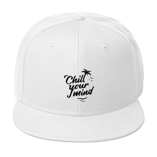 Load image into Gallery viewer, ChillYourMind - White Embroidered Snapback Hat