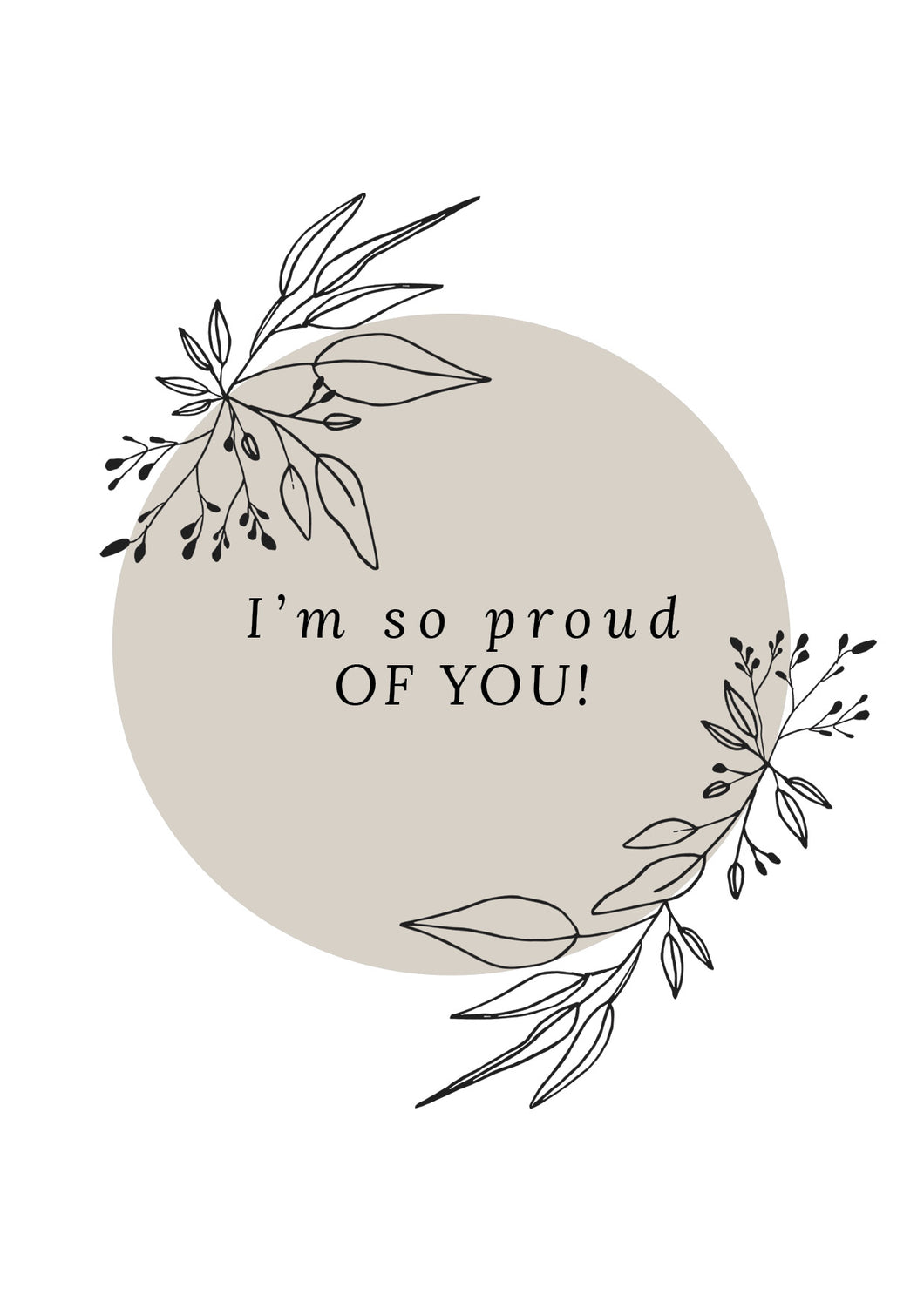 I'm so proud of you-kortti