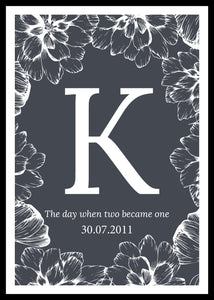 The day when two became one-kustomoitu juliste, harmaa