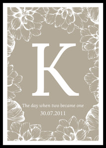The day when two became one-kustomoitu juliste, hiekka