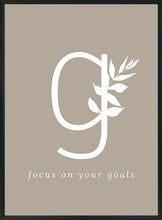 Lataa kuva Galleria-katseluun, G - focus on your goals-juliste