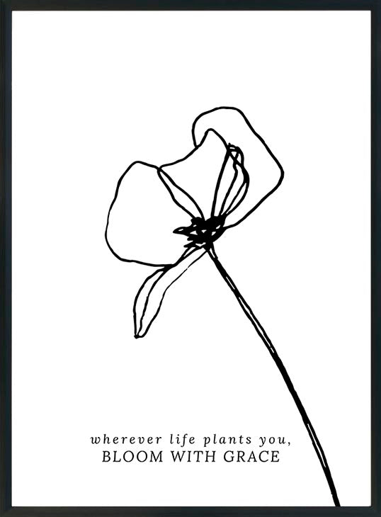 wherever life plants you-juliste