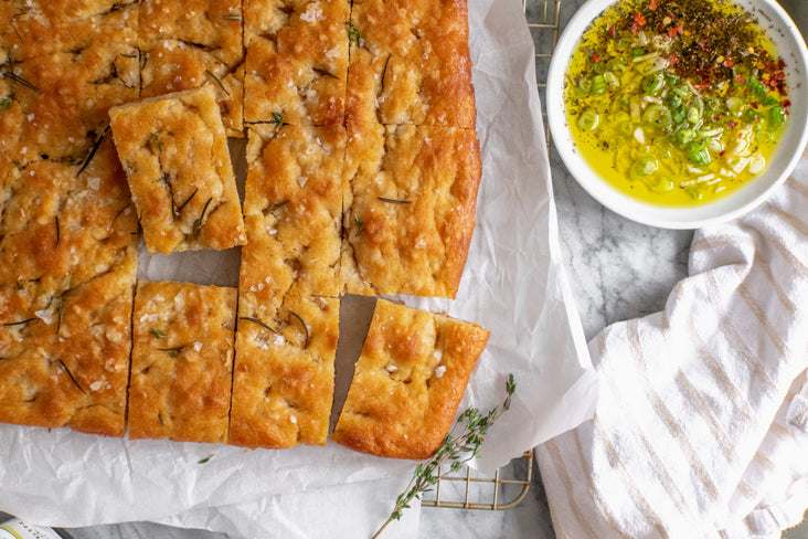 Focaccia with Garlic Dipping Oil