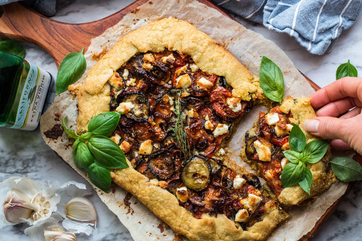 Vegetable and Goat Cheese Galette