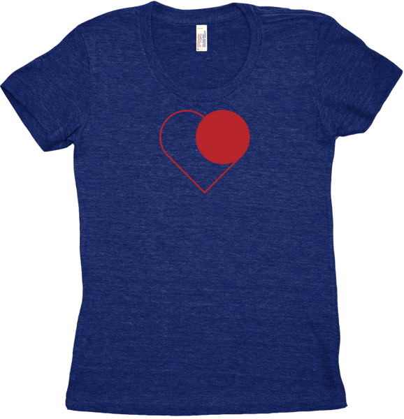 I Heart Record (Women's Tri-Blend)