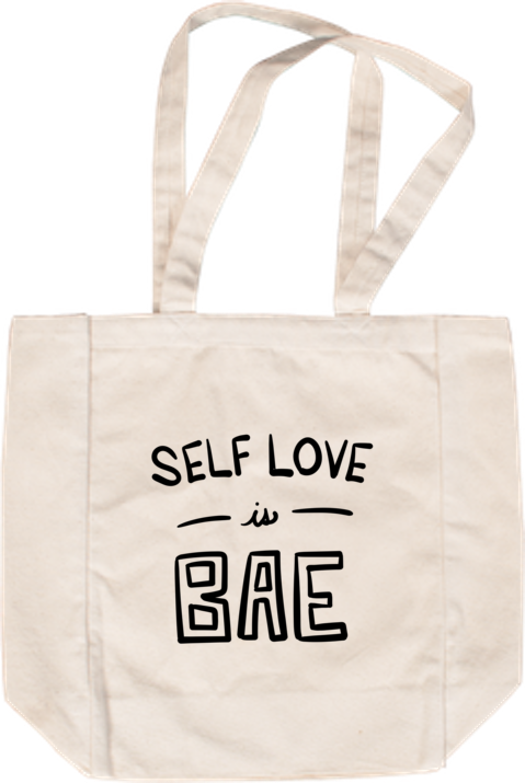 Self Love is Bae Tote - White