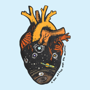 A Love Affair With The Universe Sticker