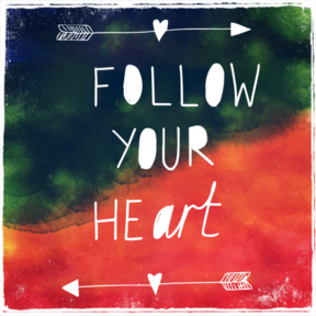 Follow Your Art <3 Sticker