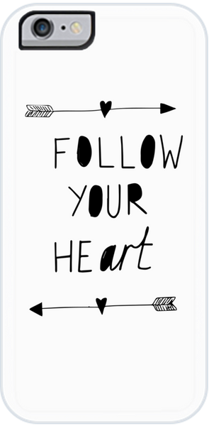 Follow Your Art <3 iPhone Case White