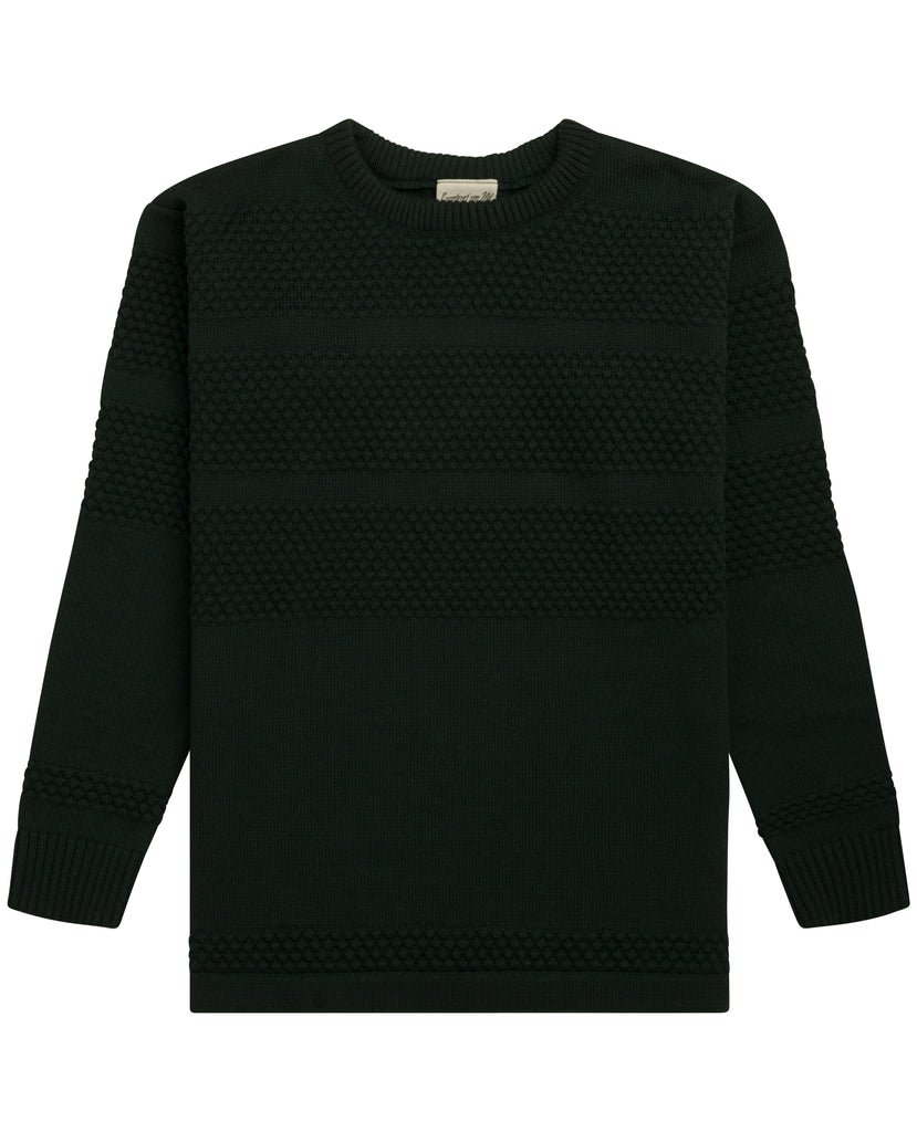 FISHERMAN crew neck<br>safe green