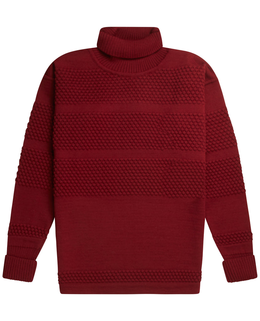FISHERMAN sweater | høj hals<br>signature flag red