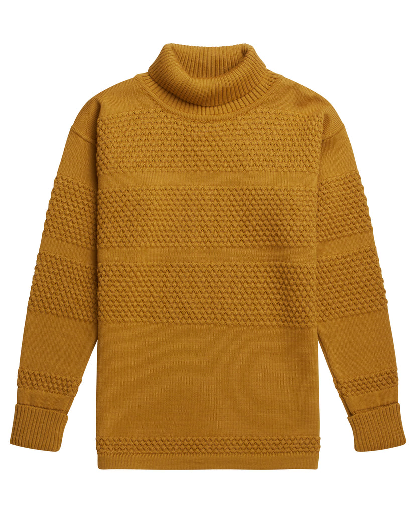 FISHERMAN sweater | høj hals<br>curry yellow