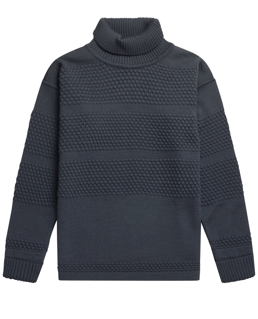 FISHERMAN sweater | høj hals<br>aviator grey