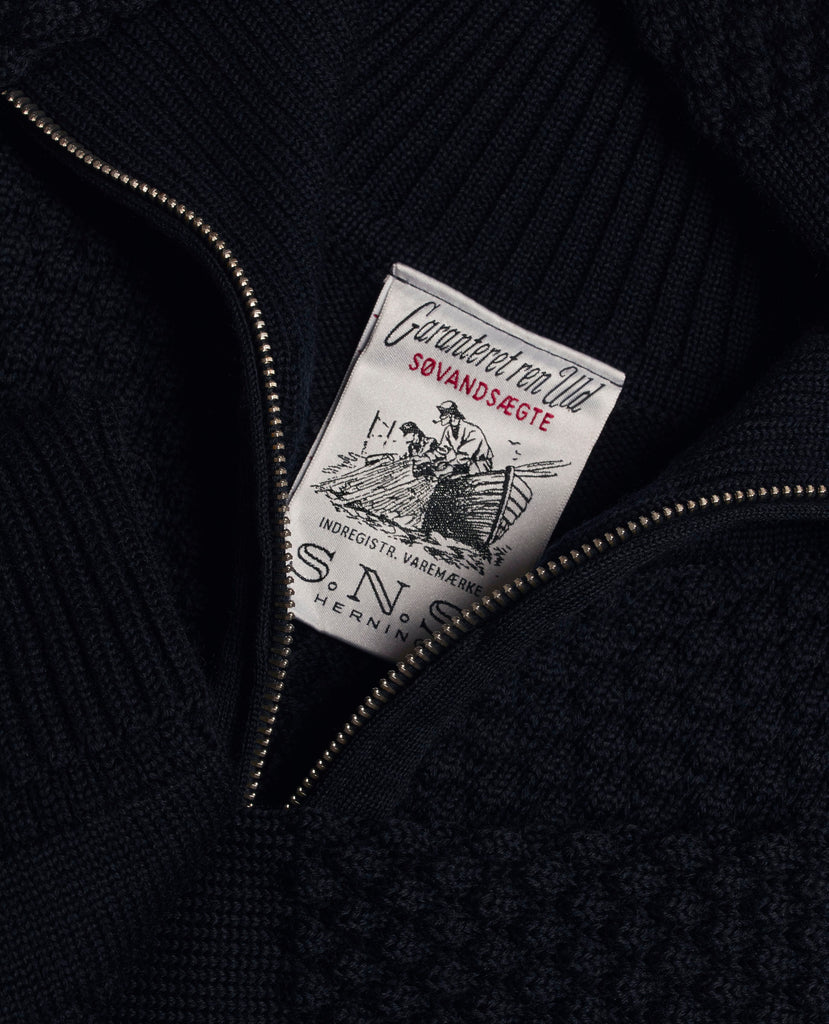 FISHERMAN short zip | kort lynlås<br>navy blue