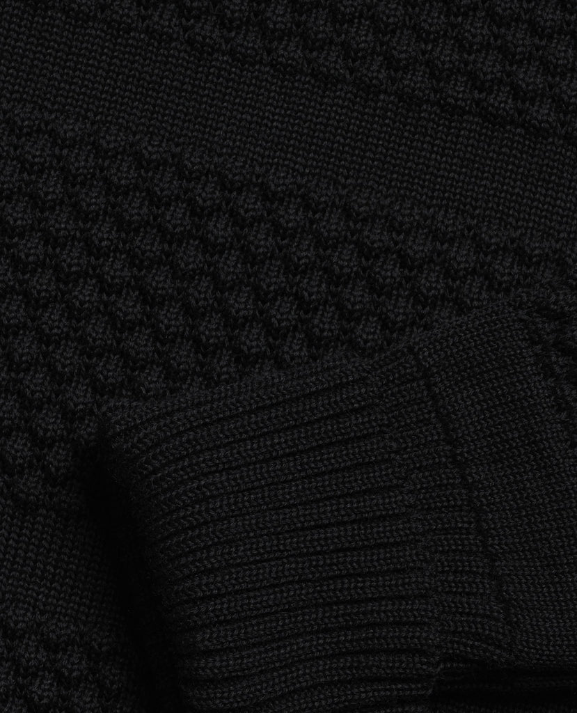 FISHERMAN short zip | kort lynlås<br>black void