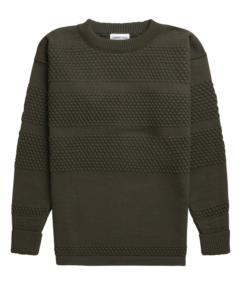 FISHERMAN crew neck | rund hals<br>deep bronze green