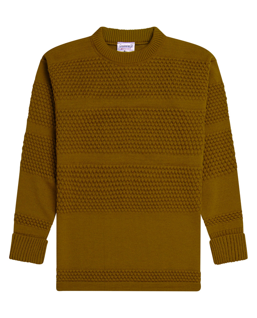 FISHERMAN crew neck | rund hals<br>mossy sun yellow
