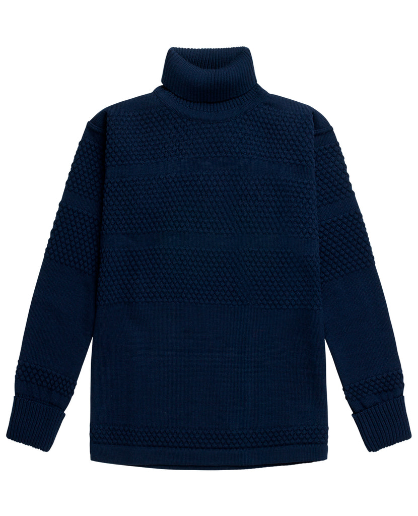 FISHERMAN sweater<br>sea blue