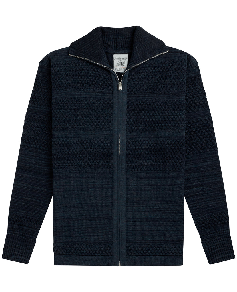 FISHERMAN full zip<br>triple blue mix