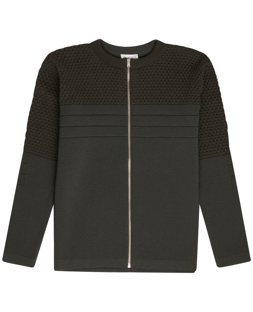 MEDIATOR full zip | lang lynlås<br>lacquer green (M)