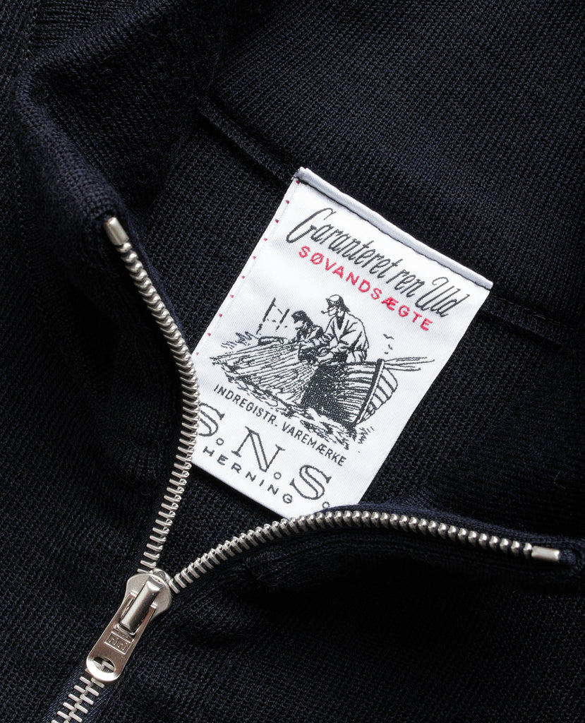 NAVAL full zip | lang lynlås<br>navy blue [2]