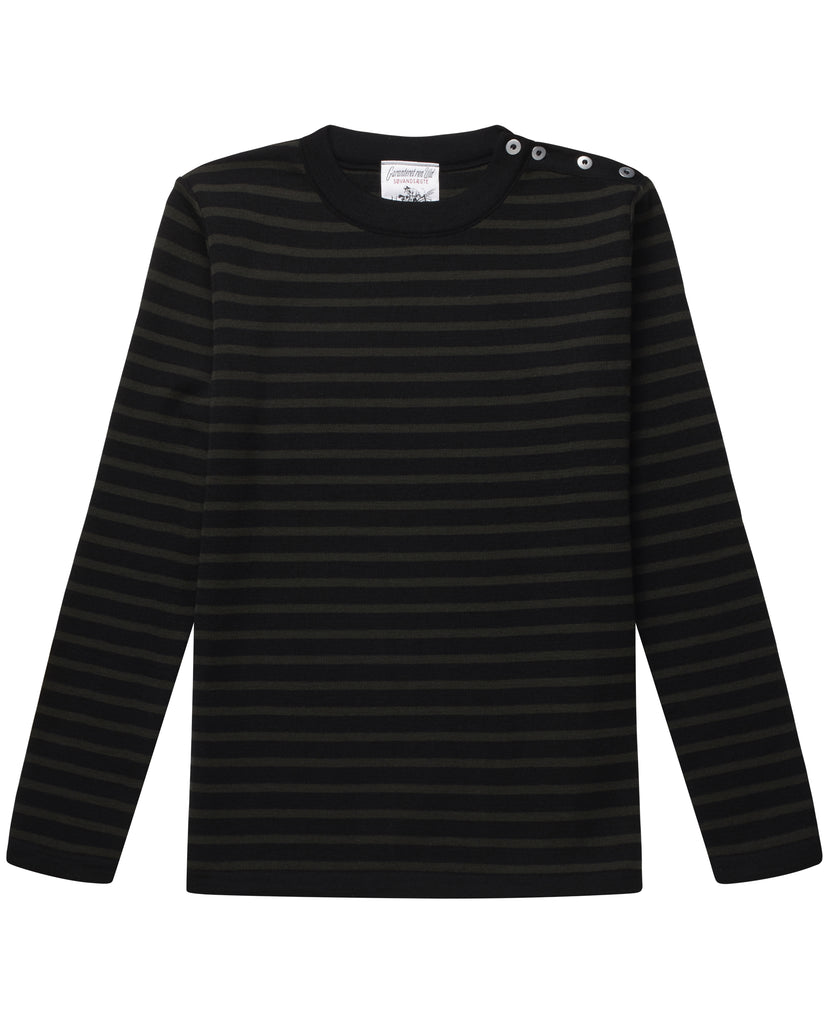 NAVAL crew neck | rund hals<br>black void / lacquer green