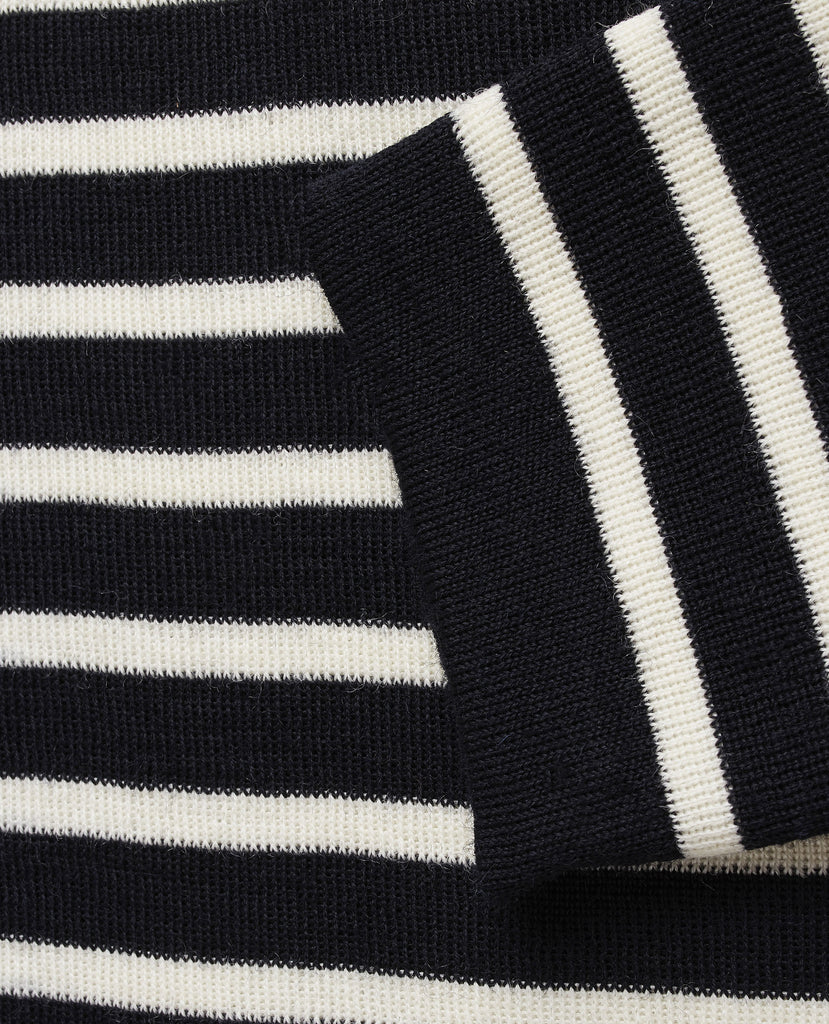 "NAVAL crew neck | rund hals<br>navy blue / "" off white """