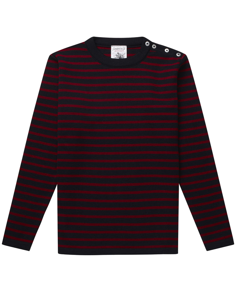 NAVAL crew neck | rund hals<br>navy blue / signature flag red