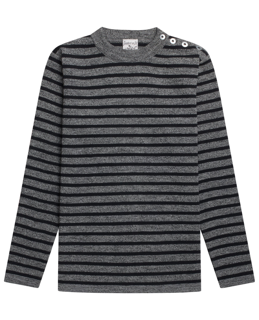 NAVAL crew neck<br>white noise / black lake
