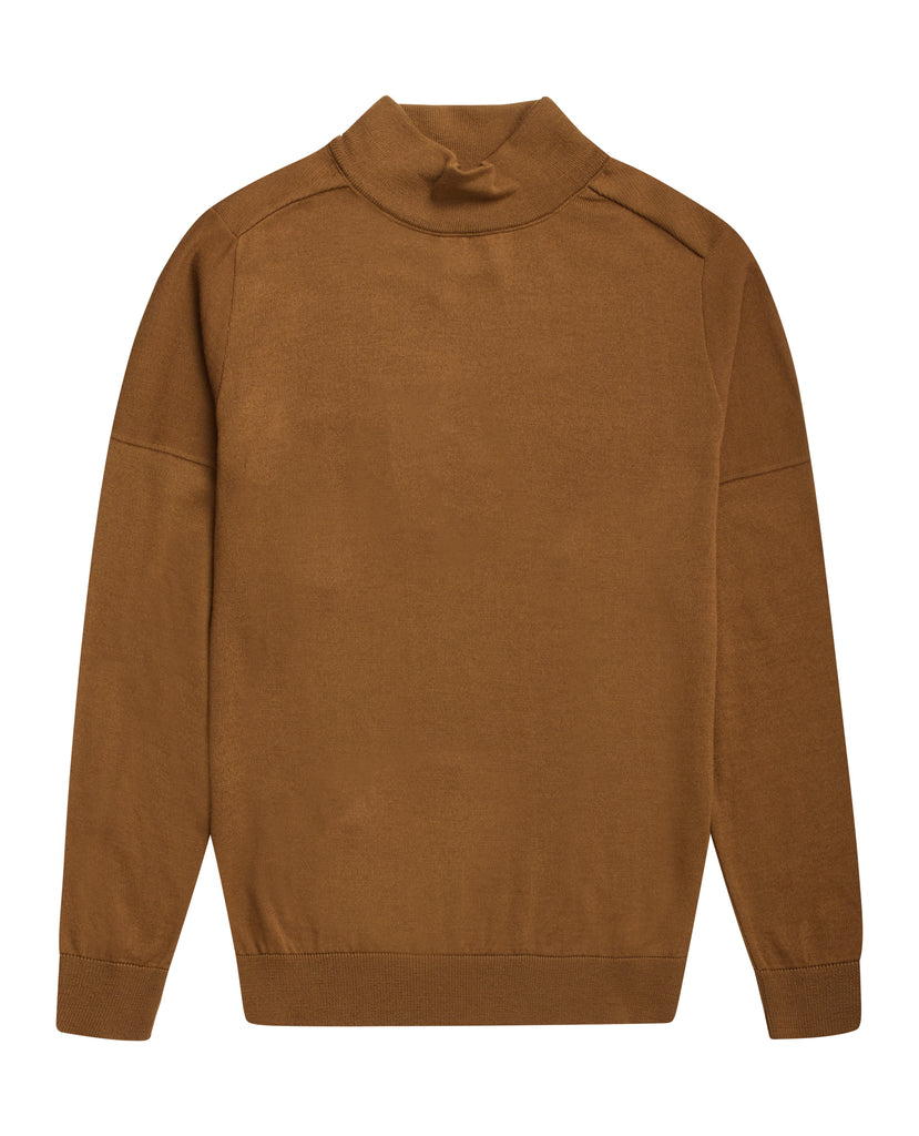 CIVIL sweater | høj hals<br>golden camel (M)