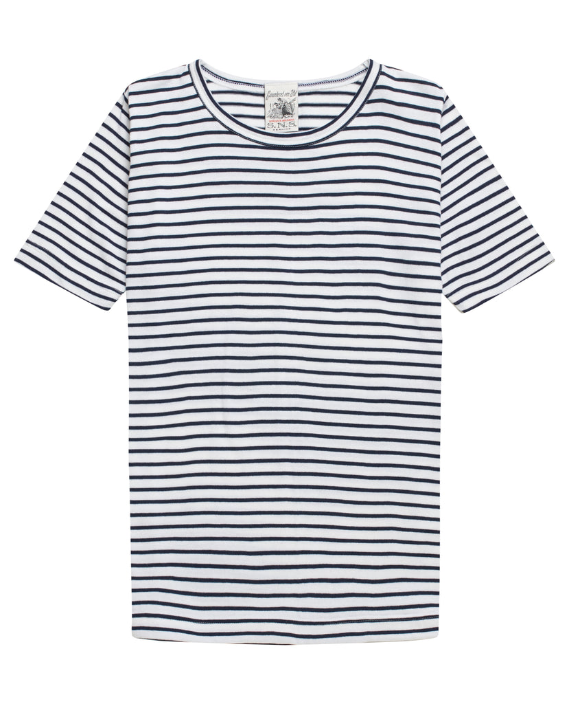 OBSERVER t-shirt<br>pearl / royal blue