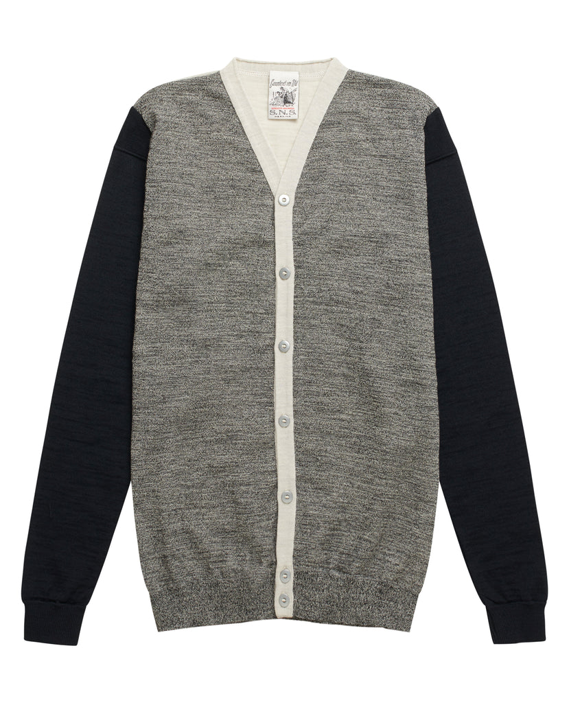 MIGRATION cardigan<br>white noise block