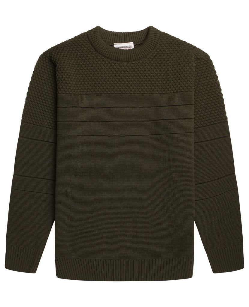 SENTIMENTAL crew neck | rund hals<br>deep bronze green
