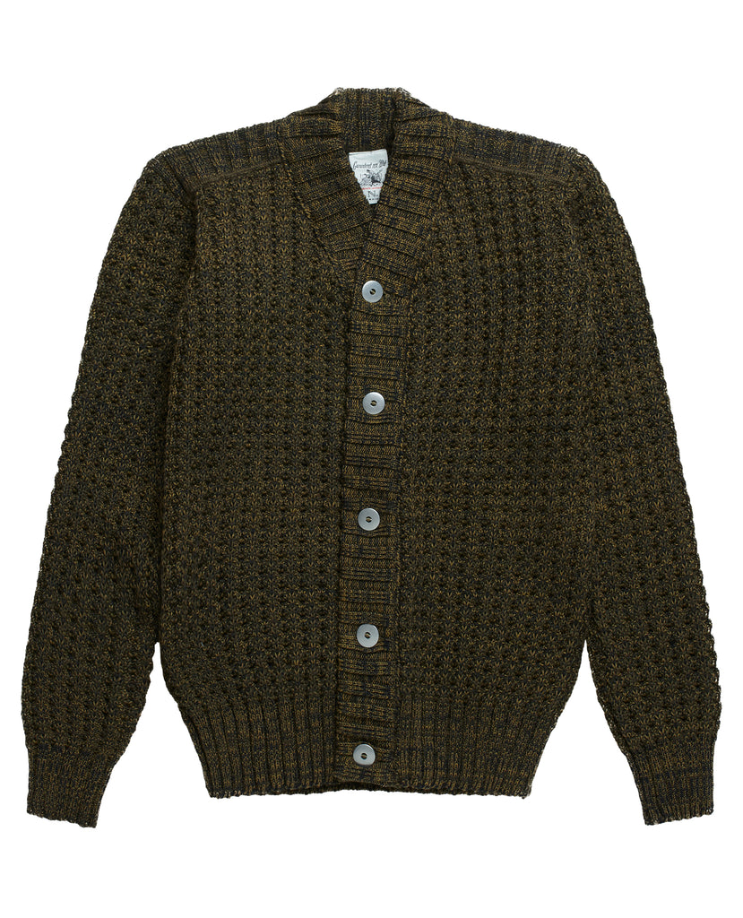 ION cardigan<br>dark army mix